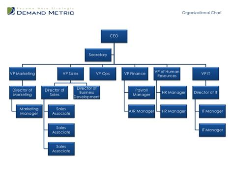 Organizational Chart Template Organization Hierarchy Chart Template