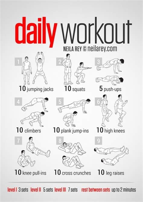 easy daily workout gentlemint