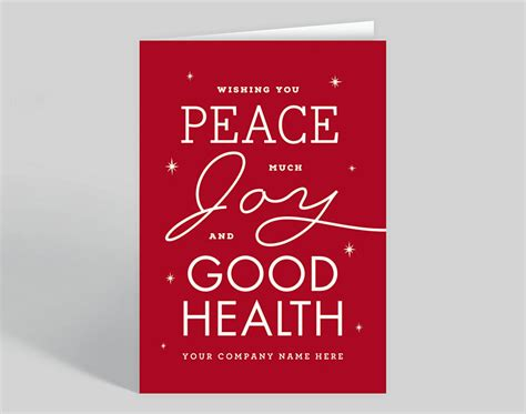 peace joy health holiday card   gallery collection
