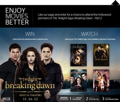 Time Warner Cable Sweepstakes - chances to walk the breaking dawn red carpet twilight lexicon