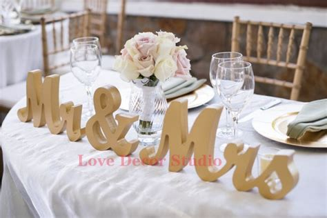 mr mrs sign for wedding table gold mr and mrs wedding signs table signs for