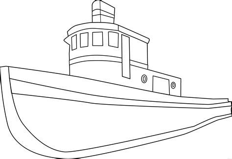 boat clipart outline boat outline clipart clipartblack