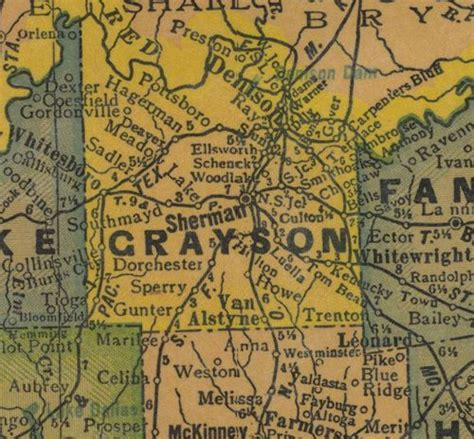 map of grayson county texas texas