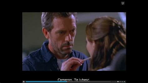 cameron and house dr gregory house cameron i love you youtube
