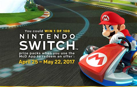 Free Mcdonalds Gift Card 2017 - mcdonald s is launching a nintendo switch giveaway on april 25th winzily