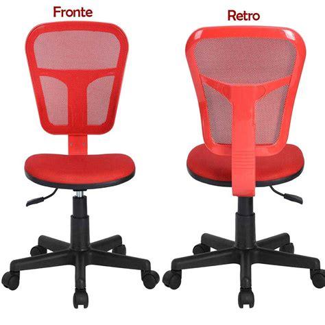 sedia da scrivania ergonomica sedia girevole con 5 ruote ufficio cameretta scrivania