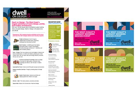 Dwell On Design 2009 Nicole Parente Lopez Email Blast Templates