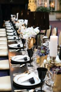 black and white table setting black gold white table setting party ideas pinterest