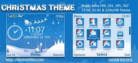nokia c3 themes with media player skin christmas themes for nokia series 40 240 215 320 320 215 240 128