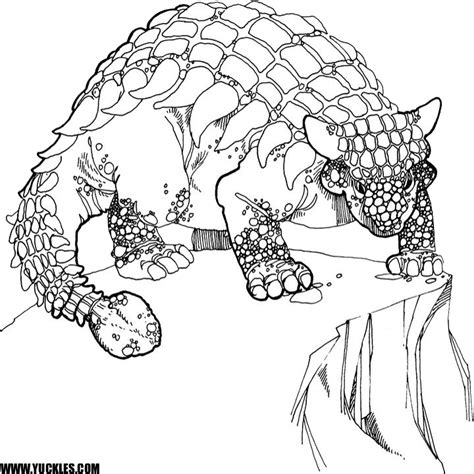 hard dinosaur coloring pages ankylosaurus coloring page by yuckles