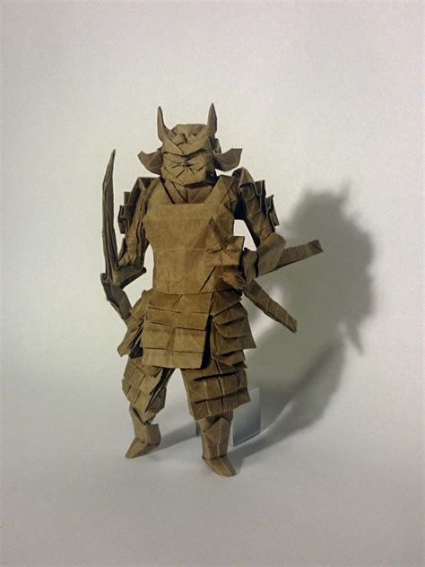 Origami Samurai Warrior - amazing origami models from japanese culture and mythology