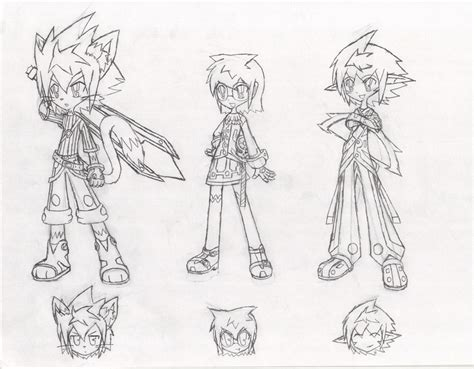 X Character Sketches by Elsword Next 3 Character Sketches By Sketchsuke On