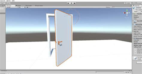 tutorial unity open door opening a door in animation with blender unity 5 6 cg