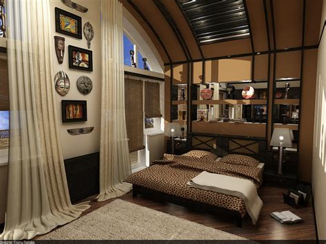 african inspired bedroom bedroom interior design by novac natalia at coroflot com