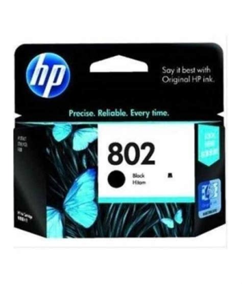 Cartridge Hp 802 Black Original 1 hp 802 large black ink cartridge ch563zz buy at best price in india snapdeal