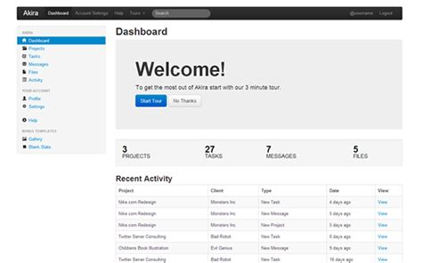 bootstrap templates for project management akira admin theme selling for 24 00