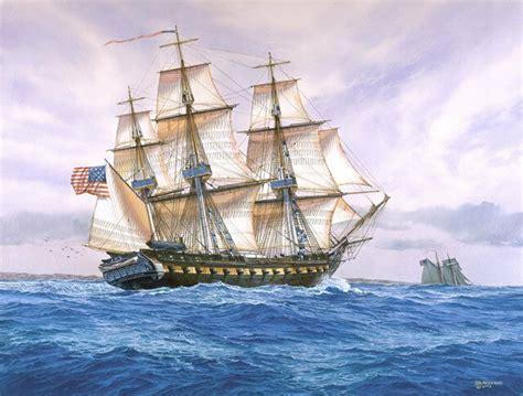 freeman boats for sale ebay quot uss constitution 1815 quot tom freeman naval print heavy