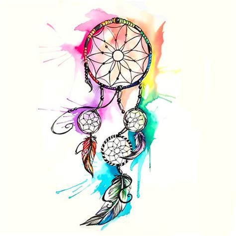 watercolor dreamcatcher tattoos watercolor dreamcatcher design
