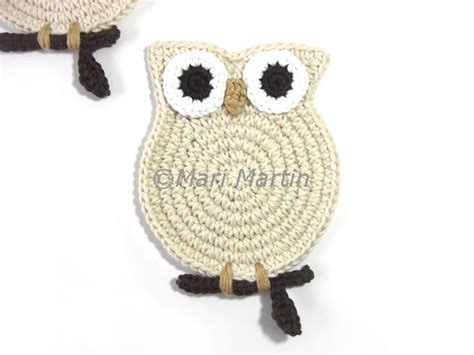 bone knit tea crochet coasters owl gifts for teachers tea