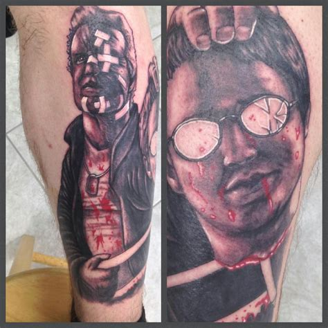 tattoo parlor movie my leg piece done by mike nemo marv and kevin from the