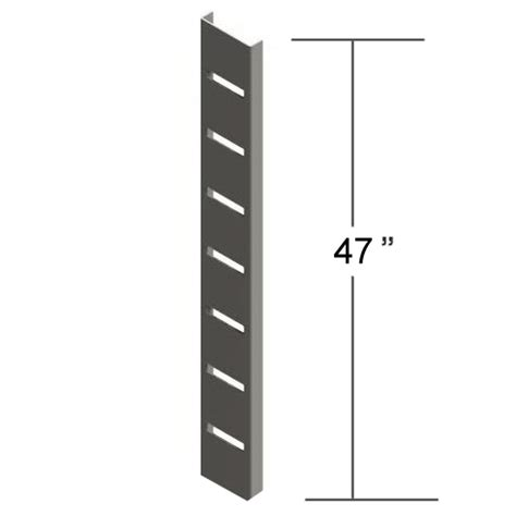 universal standards shelf brackets knife edge brackets creative store 47 quot metal slat strips surface mounting wall display