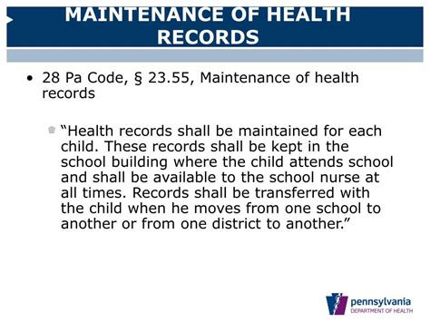 Pennsylvania Department Of Records Ppt Pennsylvania Department Of Health Division Of School Health Powerpoint