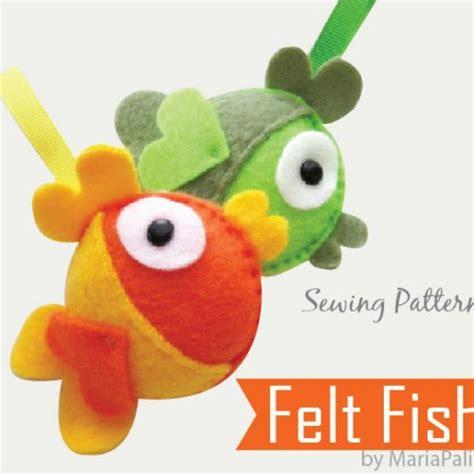felt violin pattern pdf sewing pattern diy felt fish felt fish ornament