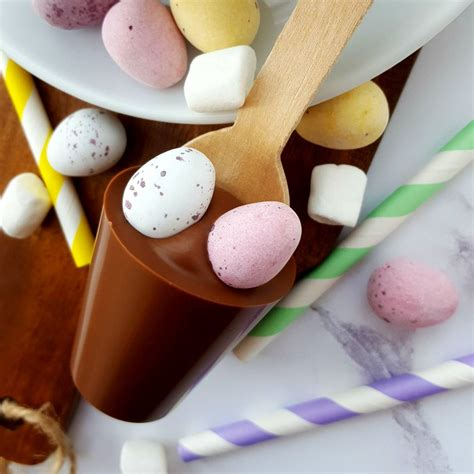 easter chocolate gifts easter mini eggs hot chocolate spoon gift by cocoa