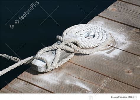 boat rope cleat cleat with boat rope image