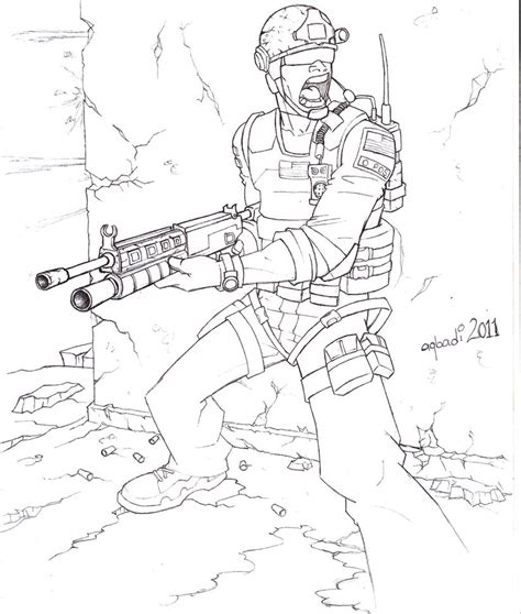 coloring pages of advanced warfare call of duty modernwarfare 3 by mohammedagbadi on deviantart