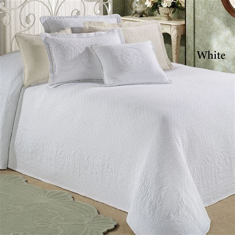 bed spreds william and mary ii woven matelasse bedspreads