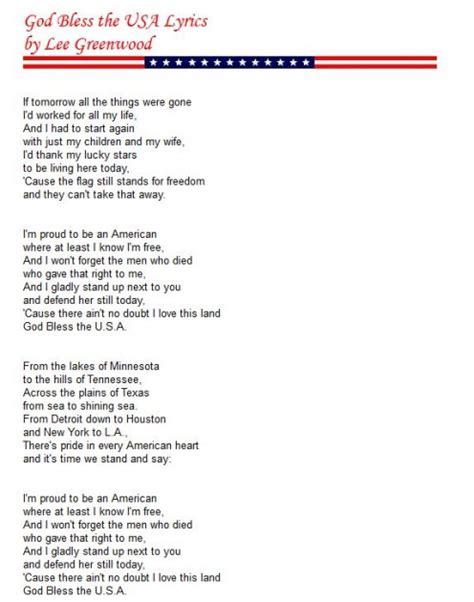 printable lyrics to party in the usa lyrics of god bless america f f info 2017