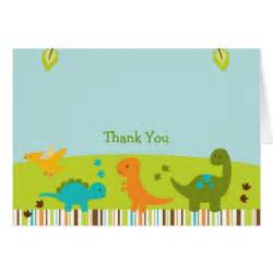 baby dinosaur thank you note cards zazzle