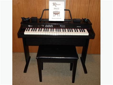 keyboard piano bench robson rp6100 digital 61 key keyboard piano bench seat