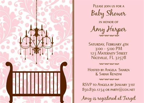pink and brown baby shower invitations theruntime - Brown Baby Shower Invitations