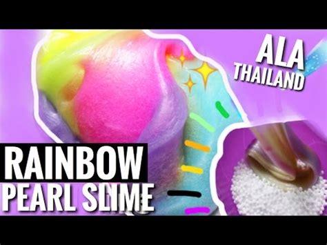 metallic slime tutorial indonesia rainbow pearl slime so satisfying tutorial slime bhs