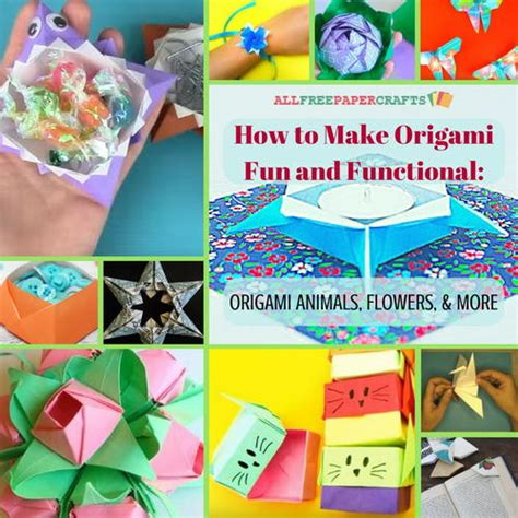 Functional Origami - how to make origami and functional 15 origami animals