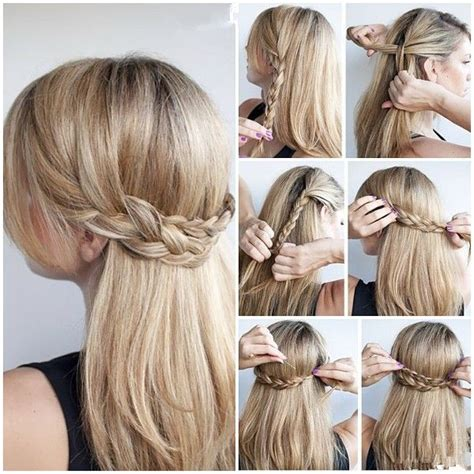 easy hairstyles for hair down cute updos for long hair glam radar