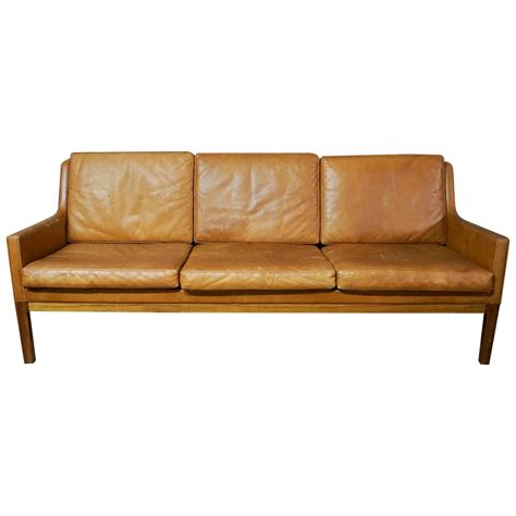3 seater leather couch for sale kai lyngfeldt three seater leather sofa for sale at 1stdibs