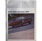 1967 Pontiac GTO Ad  Retro Car Ads Pinterest