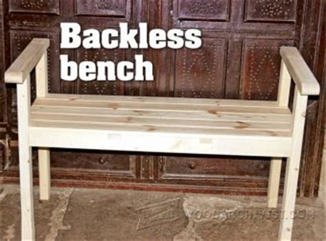 backless bench plans bench seat plans woodarchivist