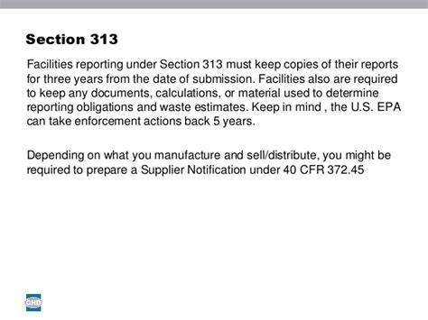 section 313 chemicals michael reece ghd understanding epcra reporting tier i