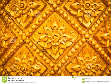 Handcraft Design - thai style pattern design handcraft on wood royalty free
