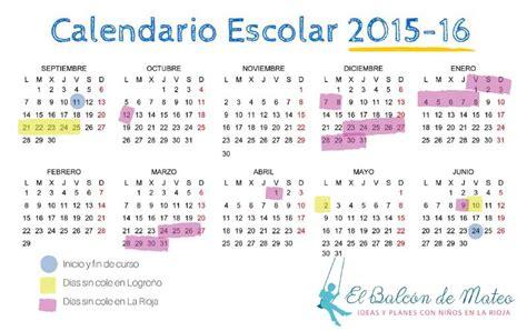 Calendario Sep 2015 Y 2016 Calendario Escolar De La Rioja 2015 2016 Para Imprimir