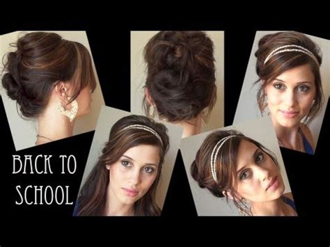Easy Back To School Hairstyles No Heat | 3 easy no heat back to school hairstyles youtube