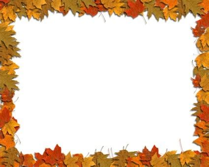 free fall border templates fall leaves border clip art