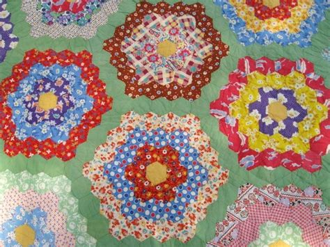 Grandmothers Flower Garden Quilt Pattern Flower Garden Quilt Pattern 5 Vintage Grandmothers Flower Garden Quilt Smalltowndjs
