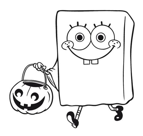 coloring pages spongebob halloween spongebob coloring pages