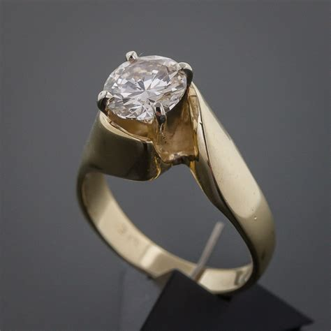 ct diamond solitaire engagement ring color op