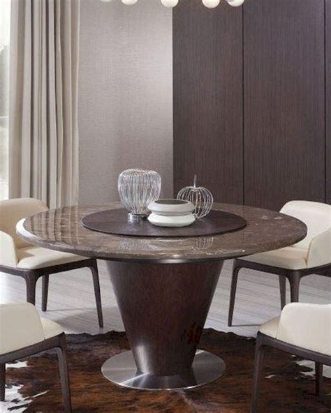 contemporary brown marble dining table 44d550t